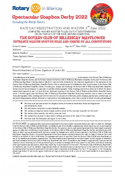 SoapBox Waiver Form 2022