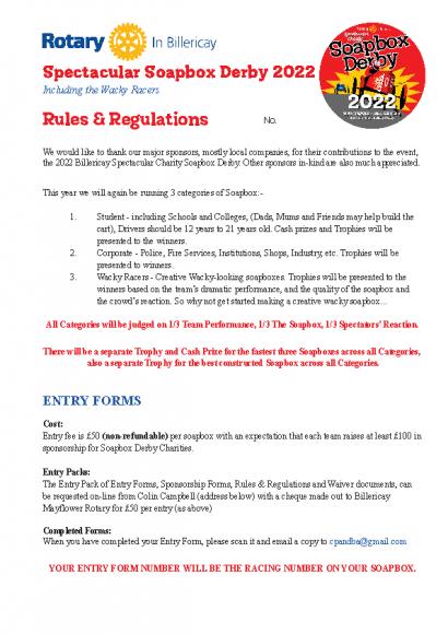 Soapbox Rules & Regs Update 2022