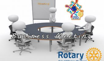 April Business meeting